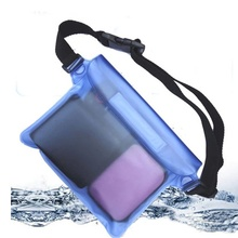 1 pc Swimming Waterproof Waist Bag Drift Adjustable Belt Mobile Phone Pouch Beach Traveling Surfing Waist Pouch Bag(China)