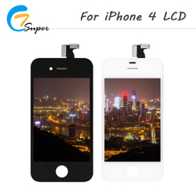 ET-Super 20PCS/LOT Good Quailty For iPhone 4 LCD Screen Touch Screen Digitizer Assembly Black And White Free Shipping(China)