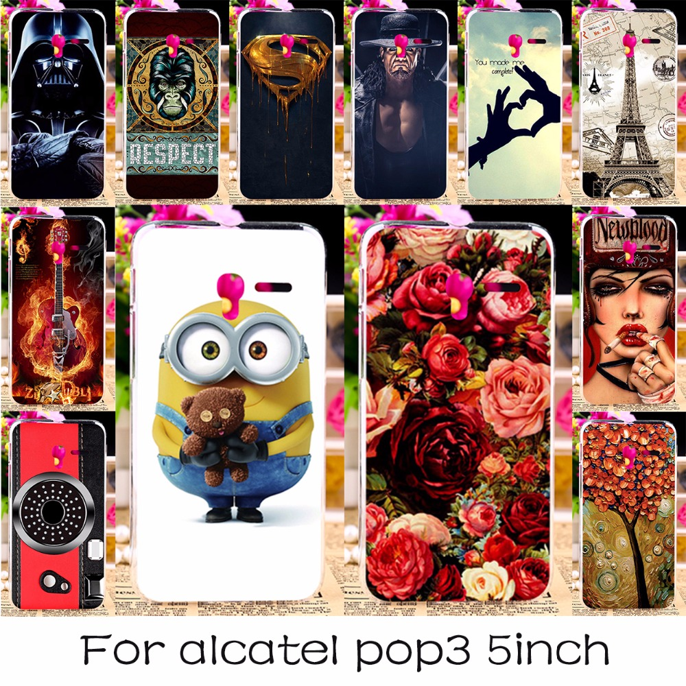 "TAOYUNXI Silicone Plastic Phone Case For Alcatel OneTouch Pop 3 5015D 5.0"" 3G Version 5015 5016A 5016J 5015A Cover Bag Case(China)"