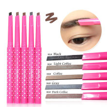 MOONBIFFY 1 PCS HOT Women Ladies Waterproof Brown Eyebrow Pencil Eye Brow Liner Pen Powder Shaper Makeup Tool 5 colors