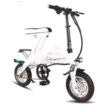 ENGWE 2017MINI 12 inch Aluminum Folding Electric Bike 48V12A Lithium Battery 250W Electric Bicycle Scooter bike & disc brakes(China)