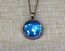 New charming personalized blue world globe necklace custom world map Glass Photo pendant necklaces unisex gifts idea for guys