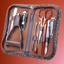 10pcs Tool Set Nail Care Products Cutter Nipper Clipper Scissor Tweezer Knife All in One Complete Set to Manicure with Bag