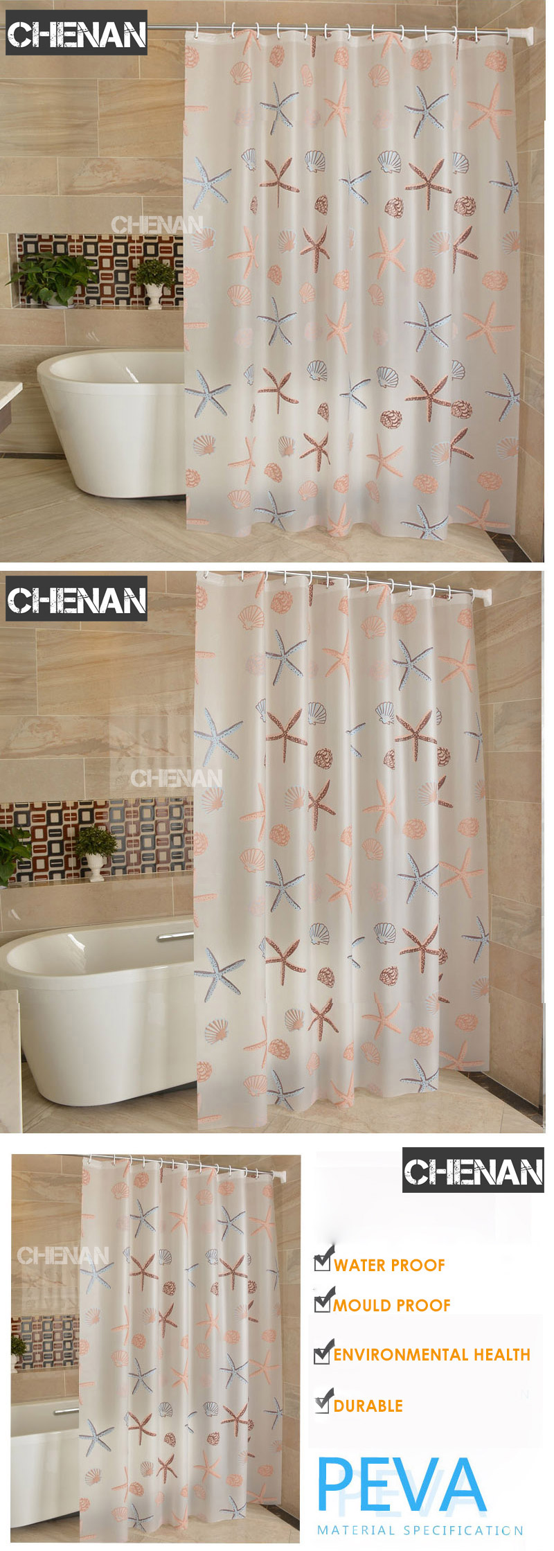 2019 Peva 3d Waterproof Shower Curtain Transparent White Clear Bathroom Luxury Bath With Hooks From Homegarden 20 83 Dhgate Com