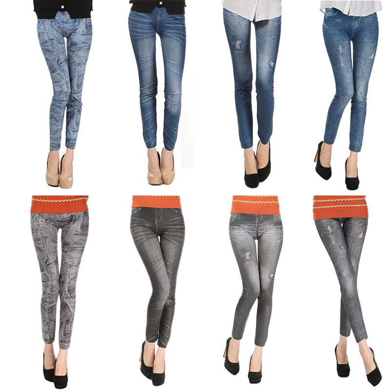 Comfortable Skinny Pants Denim Legins Women Fashion Sexy Women Jean Skinny Leggings Stretchy Slim Leggings 14