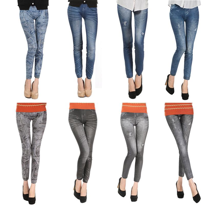 Comfortable Skinny Pants Denim Legins Women Fashion Sexy Women Jean Skinny Leggings Stretchy Slim Leggings 14