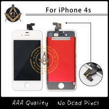 Replacement For iPhone 4S LCD Display LCD Digitizer Touch Screen Assembly No Dead Pixel Free Shipping(China)