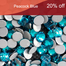 14 cutting facets of hot fix rhinestones ss20 peacock blue  1440 pcs per lot ;sexy girl crystal free shipping service !!!