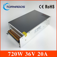 S-720-36 CE approved high quality SMPS Led switching power supply 36V 20A 720W 110/220V ac to dc 36v made in China(China)