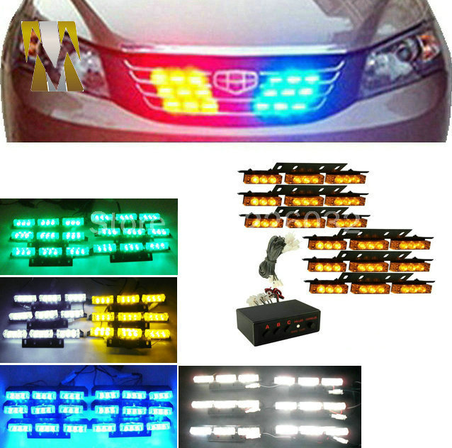 6x9 Yellow Amber flash light LED Snow Plow Car Boat Truck Warning Emergency Strobe Lights white blue red DC 12V<br>