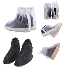 1Pair Waterproof Rain Shoes Cover Reusable Boots Flat Overshoes Covers Slip Resistant(China)