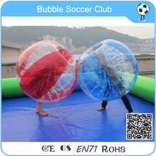 Free shipping 12pcs(6Red+6Blue+2Blower)1.5m Inflatable Human Hamster Ball,Bumper Ball,Bubble Football,Bubble Soccer,Zorb Ball