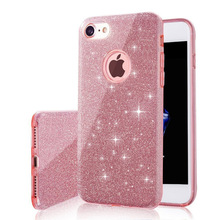 Diamond flash Glitter case For iPhone X 8 5 5S SE 6 6S 7 Plus Ultra Thin Glitter Cute Candy Cover Crystal Soft Gel TPU Phone