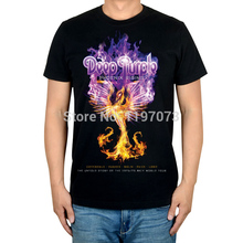 Free shipping Phoenix Rising Deep Purple  album cover men's blackhard rock T-Shirt