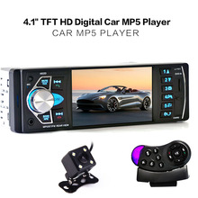 4022D 1 Din Car MP5 Video Player Auto Radio Audio Stereo FM Bluetooth TFT Screen with Rear View Camera Steering-Wheel Control