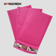 Plastic Poly Bubble Mailer Padded Mailing Bags Pink Color Superior Cushioning Strong Shockproof Bubble Courier Envelope Pouches