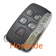 Horande for Land Rover Evoque Freelander Discovery Range Rover Key Case 5 Buttons Remote Key Replacement Shell
