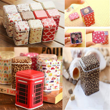 Practical Tea Candy Jewelry Coin Little Gift Storage Container Tin Box