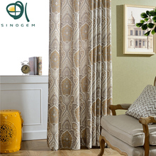 Sinogem Promotion!Customized curtain Chinese Style living room bedroom Polyester&Cotton curtains 1 panel,mural Design