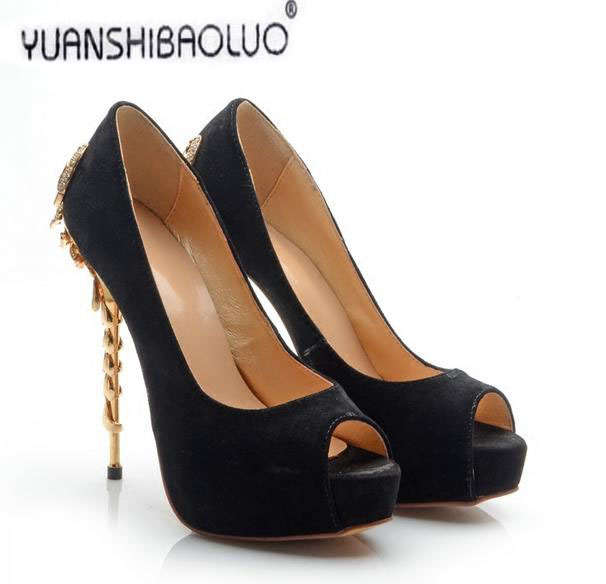 Womens shoes scrub genuine leather sexy thin heels open toe sandals leather scorpion rhinestone quality night dress shoes<br><br>Aliexpress