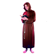 Men Priest Brother Clergyman Cosplay Costume Clothes Outfit Adults Halloween Drama Party Supplies New Year(China)