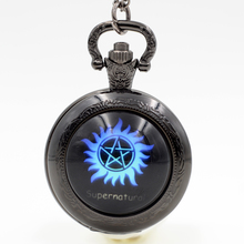 Fashion Supernatural The WB Movie Black/Silver/Bronze Quartz Pocket Watch Analog Pendant Necklace Men Women Boy Girl Chain Gift(China)