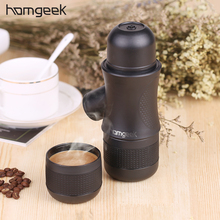Homgeek Mini Portable Compact Manual Espresso Maker Black Coffee Maker Hand Operated Coffee Machine Cappuccino For Home(China)