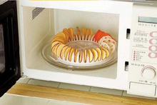 DIY Microwave Oven Baked Potato Chips Homemade Maker Machine Device  Slicer& Plate