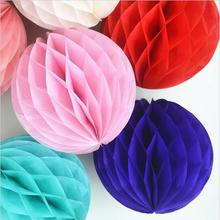 "3pcs Tissue Paper Honeycomb Balls Poms Wedding Birthday Baby Shower Party Festival Home Decorations Mix Size 6"" 8"" 10"" W061501(China)"