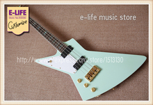 New Arrival Explorer Guitar 4 Strings Bass Left Hand Electric Guitarra Abalone Inlay China Factory(China)