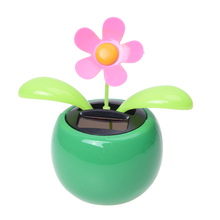Solar Powered Dancing Flower - Green Base(China)