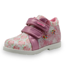 Apakowa 2017 Cute Girls Boots New Fashion Lrregular Floral Flower Print Kids Shoes Toddler Martin Boots Casual Leather Children
