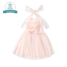 Flower Girls' Dress Lovely Pink Christmas Tulle tutu dress Party and wedding princess dresses for baby and Big Girls