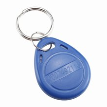 125kHz EM4100 RFID Proximity ID Entry Access Key Fob for Access Control System - 10 Pcs blue(China)