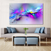 QCART Wall Pictures For Living Room Abstract Oil Painting Clouds Colorful Canvas Art Home Decor No Frame(China)
