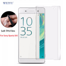 Buy WEIYU 3D Curved Full Cover Screen Protector Sony Xperia XA1 TPU Soft Film (Not Tempered Glass) for $2.49 in AliExpress store