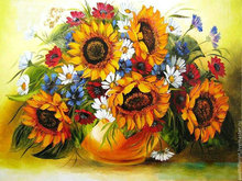 New 3d diy Diamond Embroidery flowers icons Diamond Painting sunflower image Diamond Painting Cross Stitch home Decor handcraft(China)