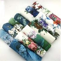 Hand dyed 14 Assorted Cotton Linen Printed Quilt Fabric For DIY Sewing Patchwork Home Textile Decor 22X22cm Chinese painting