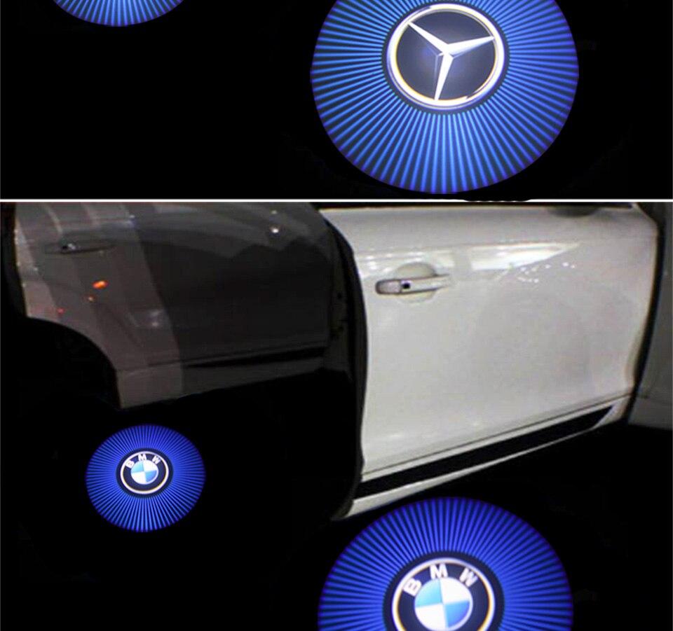 car door light welcome lamp auto decoration bulb car brand logo projector (4)