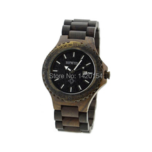 Bewell Natural Black Sandalwood Men's Wooden Watch OEM Manufacture