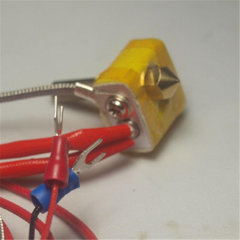 Reprap 3D printer spare parts K type thermocouple Metal DIY Hot End for RepRap 3D Printer 1.75mm Filament 0.4mm Nozzle hotend<br><br>Aliexpress