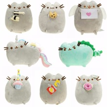 New 2017 Kawaii Brinquedos Pusheen Cat Sushi Angel Cookie Potato chips Doughnut Stuffed & Plush Animals christmas Toys for Girls(China)