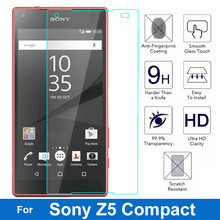 Buy Z5 Compact Screen Protector 9H Premium Tempered Glass Sony Xperia Z5 Compact mini Z5mini Z5C E5823 E5803 Protective Film for $1.09 in AliExpress store
