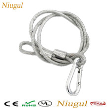 10pcs/lot 85cm stage light safety cable safety rope loading weight 30kg for beam moving head light/LED PAR Security Cables