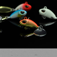 Lot 4 Pieces Vibration Lure For Day Night Fishing Bass 10g/5cm VIB Lures With White BKK Hook(China)