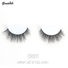 Genailish Eyelahses 3D Mink Lashes Natural Eyelash Extension Handmade Long False Eyelashes Full Strip Lashes cilios D007(China)
