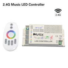 2016 New Music Remote Controller Wireless RF 2.4G DC 12V-24V For RGB Led Strip light 5050 3528 Led Control Music Conductor