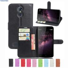 Wallet Case For HOMTOM HT17 HT 17 PU Leather Kickstand Back Shell Pink Rose Green Purple Blue Black White Brown