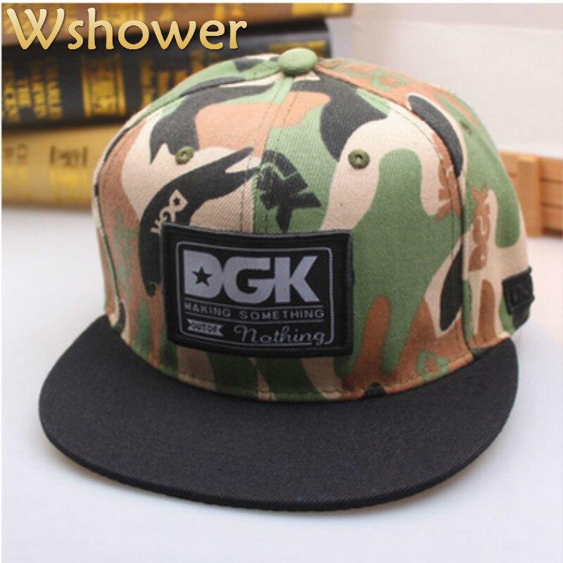Wshower Unisex Flat Brim Camouflage Baseball Cap Hip Hop Casual Outdoor Sports Snapback Hat For Men Cap Women Gorra Casquette<br><br>Aliexpress