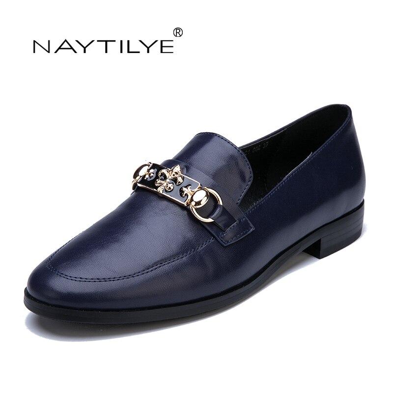 Flats shoes woman Casual Pu women shoes Spring Autumn Russian size 36-41 Free shipping NAYTILYE<br>